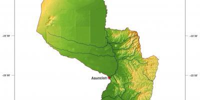 Amerika Gradovi Karta.Paragvaj Kartica Kartica Paragvaj Juzna Amerika Amerika